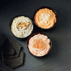 Smoked salmon pâté with oatcakes