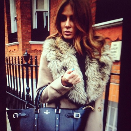 Millie Mackintosh carries Aspinal of London's Marylebone Tote