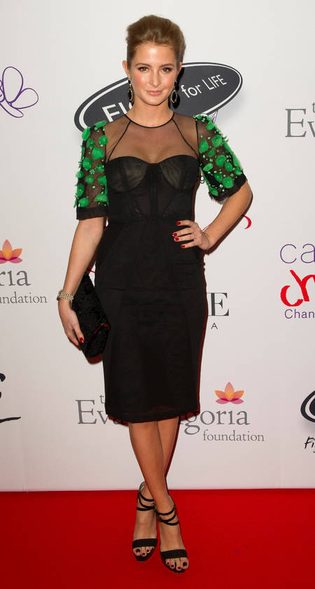 Millie Mackintosh dons embellished LBD for Eva Longoria charity gala