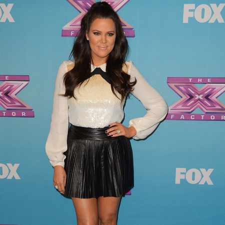 Khloe Kardashian at Fox US X Factor finale party