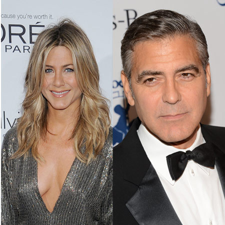 Jennifer Aniston and George Clooney