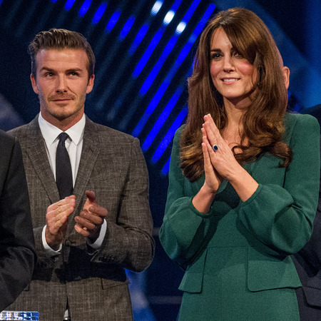 Kate Middleton and David Beckham at Sports Personality of the Year 2012