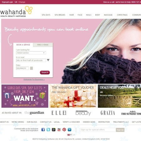 No need to ring around every salon in a 5 mile radius, Wahanda has a shiny new booking service...