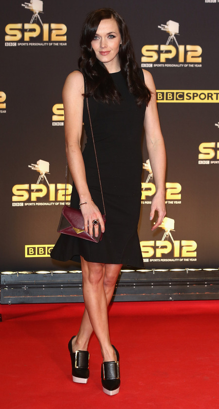 Victoria Pendleton plays it safe in Stella McCartney LBD at SPOTY