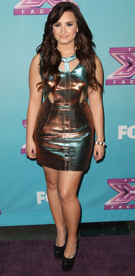 Demi Lovato in Topshop Limited Edition at US X Factor Finale