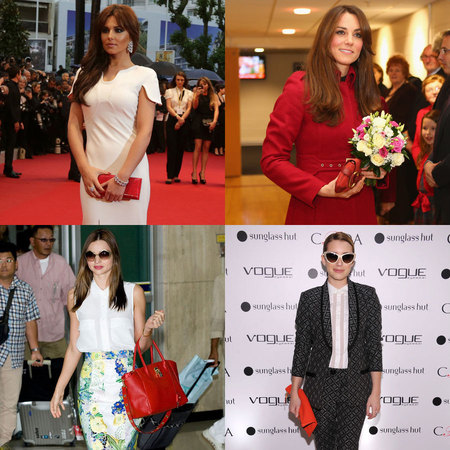CELEBRITY TREND: Colourful red bags