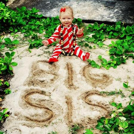 "Jessica Simpson tweeted this photo of her daughter Maxwell above the words ""big sis"", seemingly confirming a second baby is on the way."