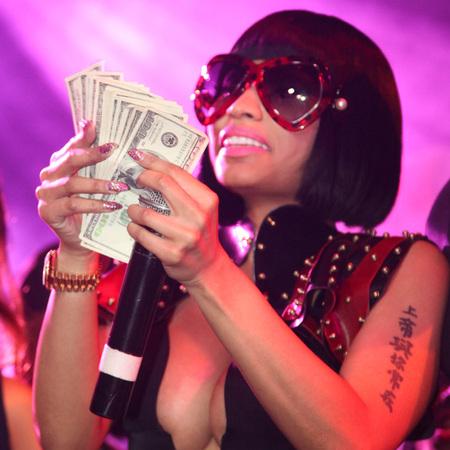 Nicki Minaj at the Christmas Extravaganza in New York City