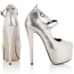 SHOP! Topshop's statement silver Suprema shoes