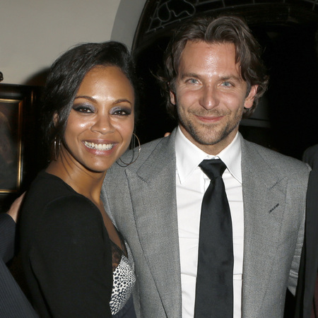 Bradley Cooper and  Zoe Saldana at Silver Linings Playbook