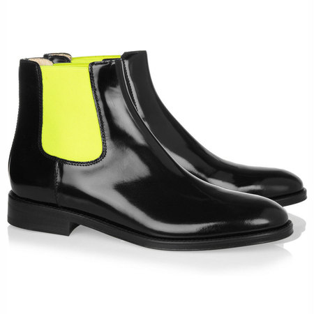 SHOP! Christopher Kane two-tone Chelsea boots