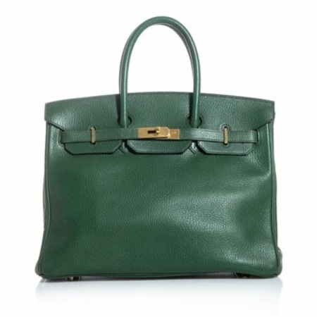 green Hermes Vintage bag, Matches.com