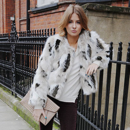 COAT CRUSH: Millie Mackintosh's shaggy Rare style