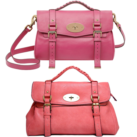 BAG BATTLE: Mulberry's raspberry Alexa handbag vs. A-Schu pink satchel