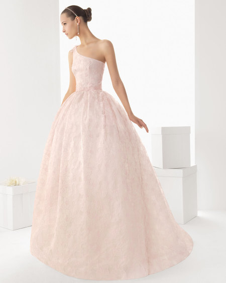 Rosa clara pink wedding dress