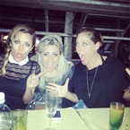 Caroline Flack sees in the New Year with a side-swept plait