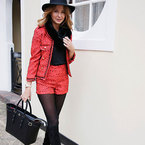 Millie Mackintosh styles Aspinal handbag with River Island