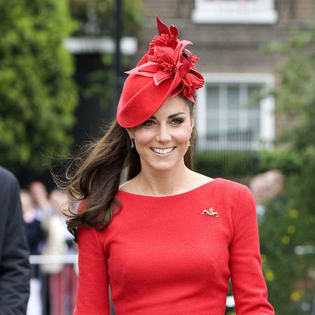 Kate Middleton's red hat