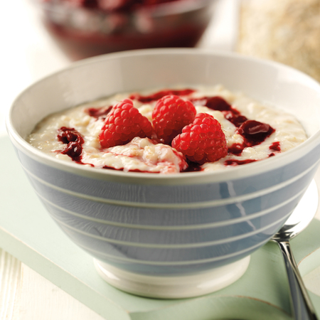 Marbled fruity porridge
