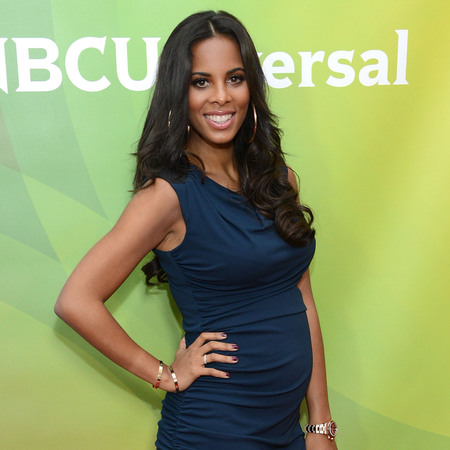 Pregnant Rochelle Humes shows off bigger baby bump