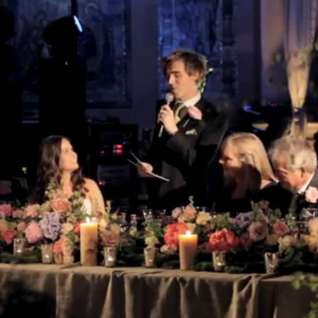 Tom McFly wedding speech 