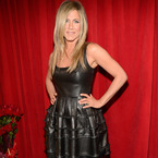 Jennifer Aniston leathers up in Christian Dior