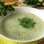 Watercress soup with ginger recipe