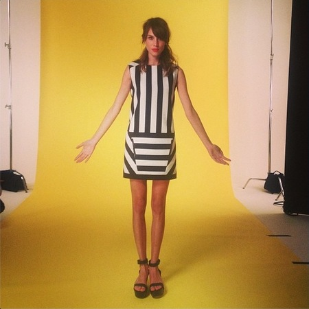 Alexa Chung rocks monochrome prints for new shoot