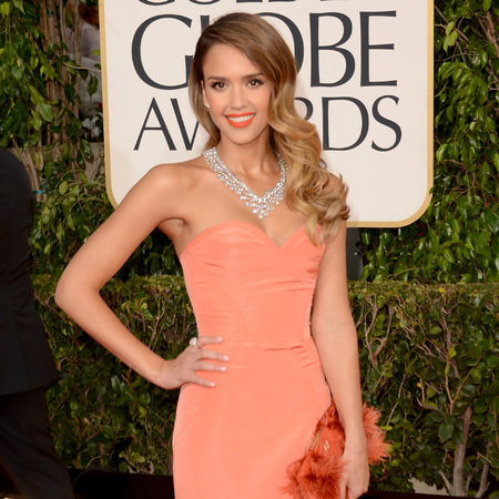 Jessica Alba at Golden Globes 2013