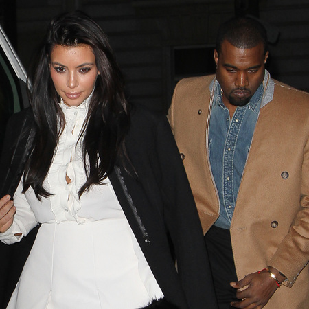 Kik Kardashian and Kanye West in Paris