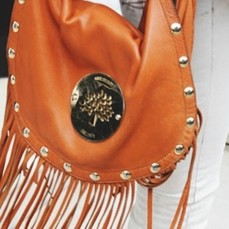 Millie Mackintosh with tasseled Mulberry