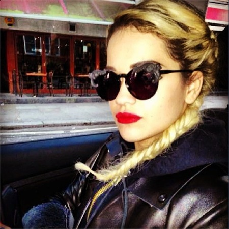 Rita Ora rocks statement sunglasses in Thailand