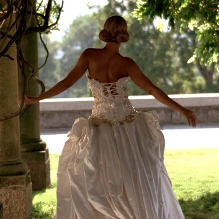 Beyonce wedding dress from the back