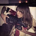 Alexa Chung has a lot of handbags