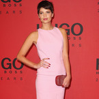 Pixie Geldof goes pretty in pink at Hugo Boss show
