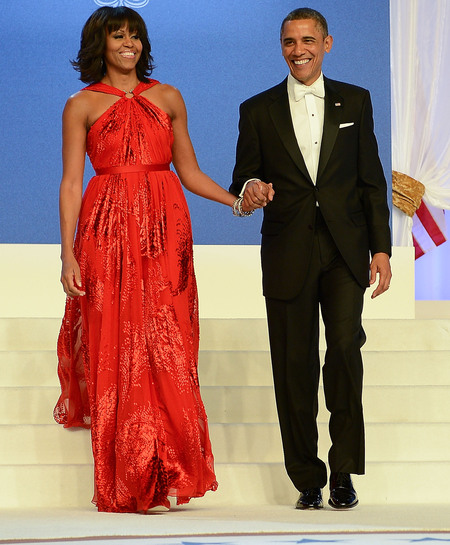 Michelle Obama in Jason Wu at 2013 Inauguration Ball