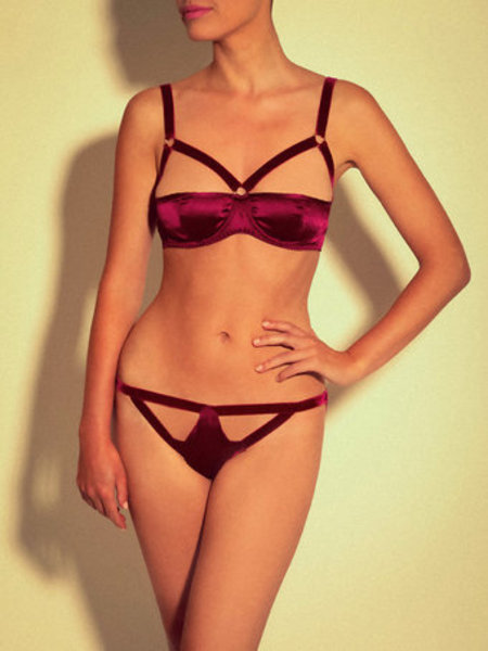 Thalia Full Cup Bra, £78, and Thalia Knickers, £66, Coco de Mer