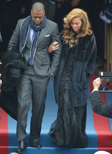 Beyoncé and Jay-Z arrive at Obama Inauguration ceremony
