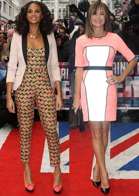 Alesha Dixon and Amanda Holden at Britain's Got Talent auditions