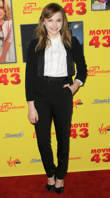Chloe Moretz suits up in Dolce & Gabbana tuxedo for Movie 43 premiere