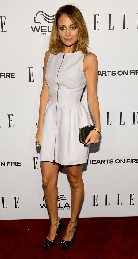 Nicole Richie in zip front dress