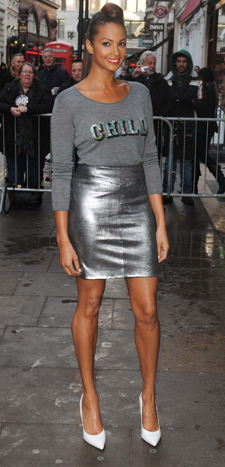 Alesha Dixon in silver at Britain's Got Talent auditions