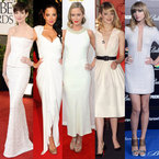CELEBRITY TREND: White dresses rule the red carpet