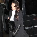 Kim Kardashian goes monochrome for Paris Fashion Week