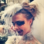 Spring/Summer: Cara Delevingne rocks Chanel's gothic beauty