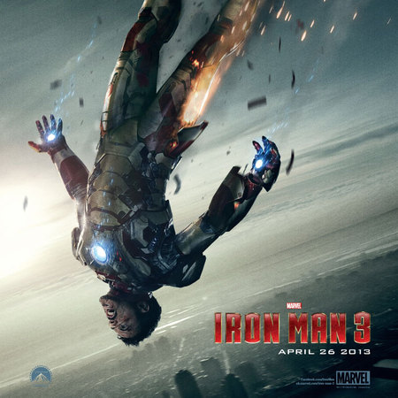 Super Bowl 2013 teaser poster for IRON MAN 3