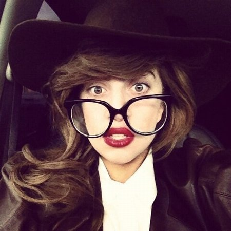 Lady Gaga does new geek chic look