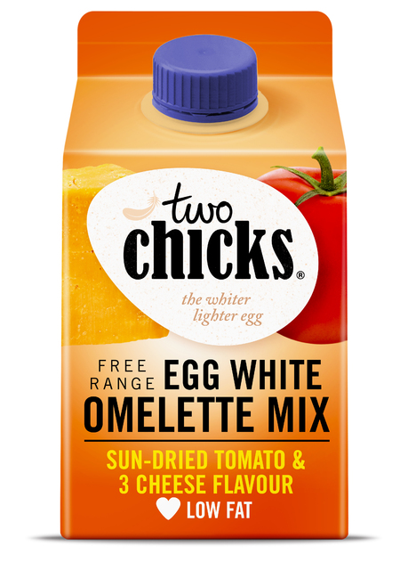 Two Chicks Egg White Omelette Mix with Sun-Dried Tomato and 3 Cheese