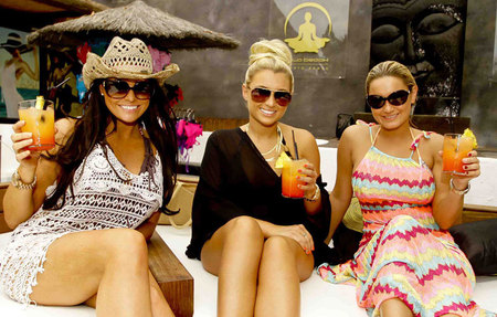 TOWIE Girls at Sala Beach