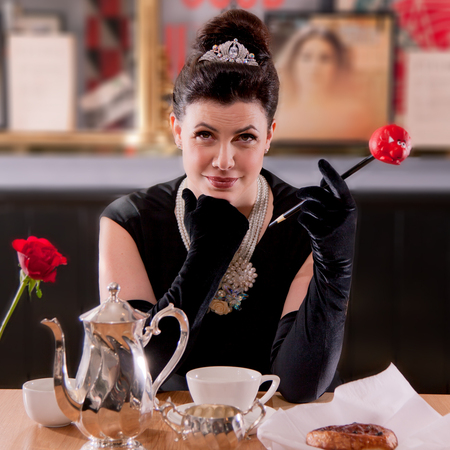 Kirstie Allsopp channels Audrey Hepburn for Comic Relief campaign